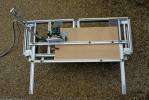Le GUIDE COUPE permet la production en série d'éléments de quelques millimètres à 70 cm. de large sur 130 cm. de long.