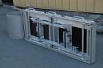Les éléments de serrage sont intégrés au cadre.